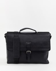 Ted Baker Departs Leather Satchel Black