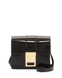 Versace Collection Patent Leather Crossbody Bag Black