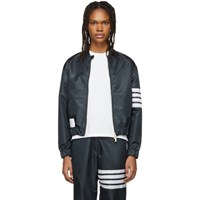 Thom Browne Navy Flyweight Bomber Jacket