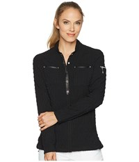 Jamie Sadock Pucker Up Textured Jacket Jet Black Coat