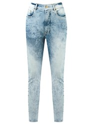 Amapo High Waisted Skinny Jeans Blue