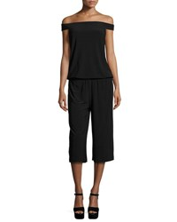 Laundry By Shelli Segal Off The Shoulder Culotte Jumpsuit Black