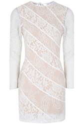 True Decadence Sheer Lace Bodycon Dress White