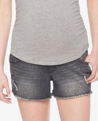 Wendy Bellissimo Maternity Cut Off Shorts Grey