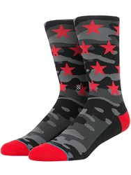 Stance Battalion Camo And Star Cotton Blend Socks