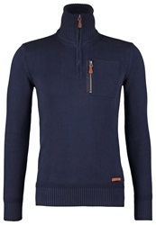 Petrol Industries Jumper Black Navy Dark Blue