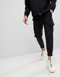 Religion Skinny Fit Cargo Pants In Black