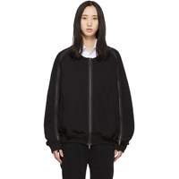 Ann Demeulemeester Ssense Exclusive Black Rodger Bomber Jacket
