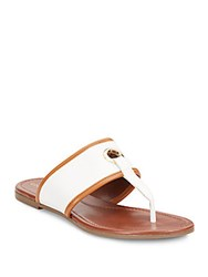 Cole Haan Arlette Leather Sandals Ivory Acorn