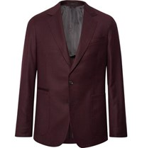 Paul Smith Burgundy Slim Fit Wool And Cashmere Blend Suit Jacket
