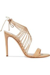 Casadei Evening Strap Detailed Leather Sandals Sand