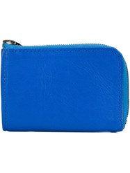 Isaac Reina Mini Zipped Wallet Blue
