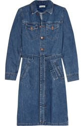 Madewell Belted Denim Shirt Dress Mid Denim