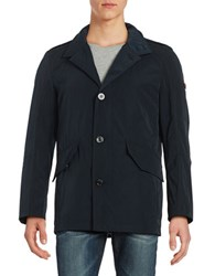 Strellson Button Front Jacket Dark Blue