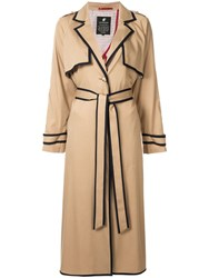 Loveless Contrast Trim Coat Brown
