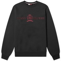 Tommy Jeans Crest Logo Crew Sweat Black
