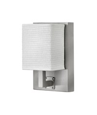Hinkley Avenue Rectangle Sconce 61033Bn Brushed Nickel White