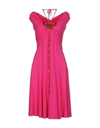 Maria Grazia Severi Dresses Knee Length Dresses Women Fuchsia