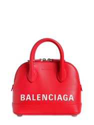 Balenciaga Xxs Ville Leather Top Handle Bag Bright Red
