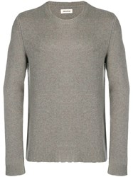 Zadig And Voltaire Kennedy Cashmere Sweater Grey