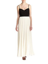 Laundry By Shelli Segal Pleated Colorblock Chiffon Gown Pearl Multi