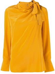 A.L.C. Sophie Silk Blouse Yellow