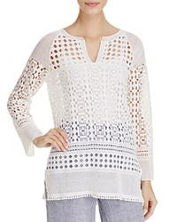Nic Zoe And Free Spirit Lace Tunic Paper White
