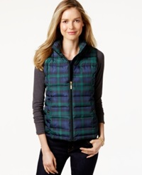Charter Club Plaid Quilted Vest Only At Macy's Deep Black Combo