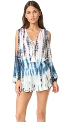 Young Fabulous And Broke Ayla Romper Teal Bamboo Wash