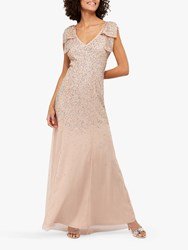Monsoon Molly Scatter Embellished Maxi Dress Blush