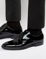 Aldo Gaville Patent Leather Oxford Shoes Black Patent