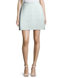 Delpozo Classic Woven Mini Skirt Light Mint