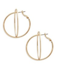 Bcbgeneration Xl Hoops Layered Double Hoop Earrings Gold