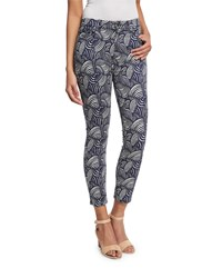 Jen7 Origami Fan Printed Cropped Pants Women's