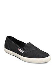 Superga Canvas Slip On Sneakers Sage