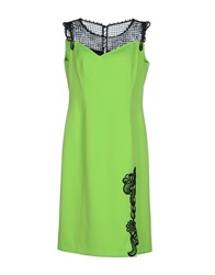 Maria Grazia Severi Knee Length Dresses Acid Green