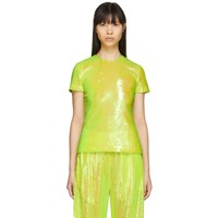 Maison Martin Margiela Mm6 Yellow Sequin Blouse