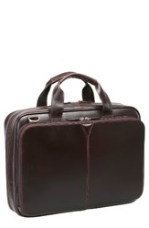 Johnston And Murphy Men's Leather Briefcase Brown Mahogany