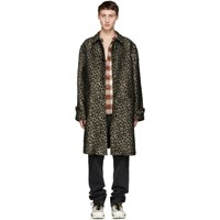 Adaptation Black And Beige Leopard Vintage Trench Coat