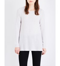 The White Company Boat Neck Knitted Cashmere Jumper Cloud Marl