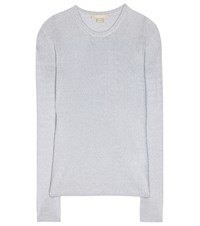 Michael Kors Metallic Sweater Silver