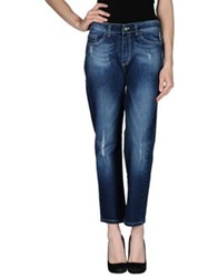 Twin Set Simona Barbieri Denim Pants Blue