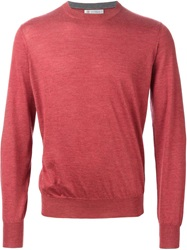 Brunello Cucinelli Fine Knit Sweater Pink And Purple