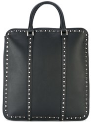 Dsquared2 Dante Shopping Bag Men Calf Leather Acrylic Polyester Metal One Size Black