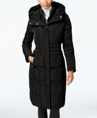 Calvin Klein Hooded Layered Long Down Puffer Coat Black