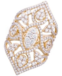 Wrapped In Love Diamond Openwork Statement Ring 2 Ct. T.W. 14K Gold Created For Macy's Yellow Gold