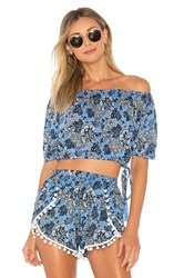 Tiare Hawaii Lover Crop Top Blue