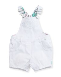 Kenzo Stretch Denim Logo Overalls White