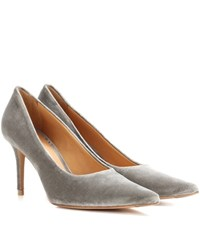 Acne Studios Pam Velvet Pumps Grey