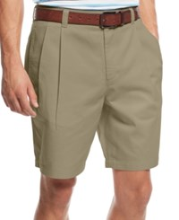 Club Room Men's Double Pleated Cotton Shorts Created For Macy's Creek Bed